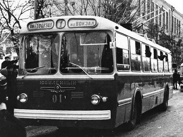 Первый белгородский Троллейбус, открытие линии, 1967 г.