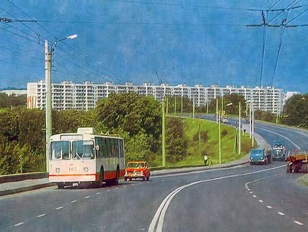 Троллейбус 143 на Богданке, 1980, фото А.Топуза