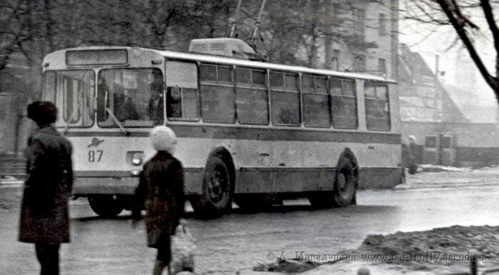 Троллейбус 87, конец 1970-х