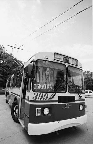 Троллейбус 399 на обкатке, 2005 г.