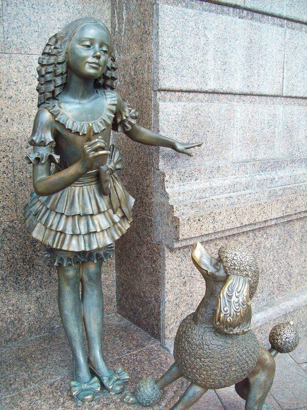 Скульптура Мальвина и Артемон