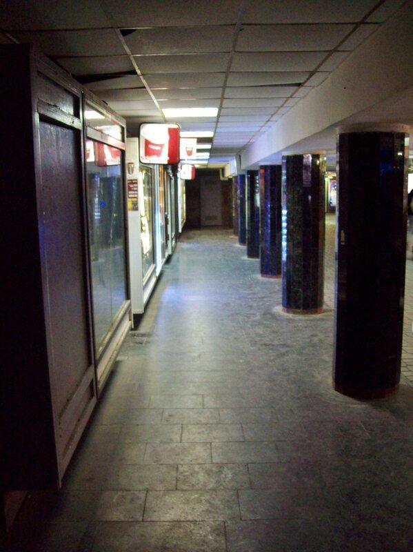 Колонны подземного перехода