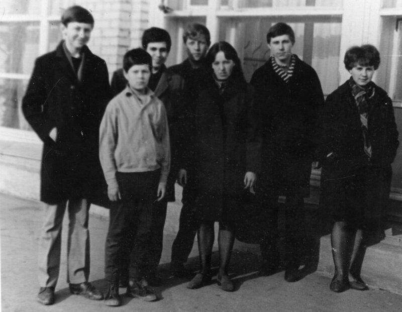 1969г. Бурцев П.,Кочев Ю.,Шварцман Ю.,Кочев В.,Пермякова В.,Цуприянчик К.,Хаустова О.