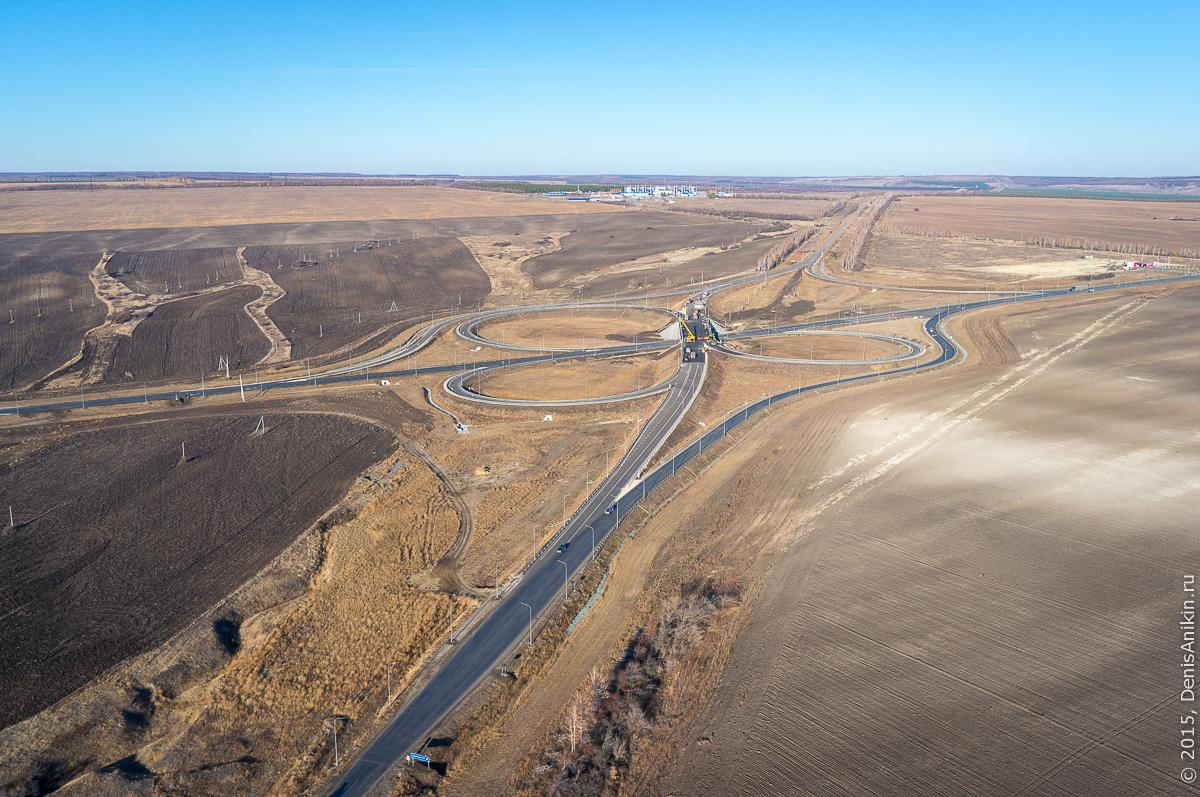 Строительство автодороги в обход Елшанки 2