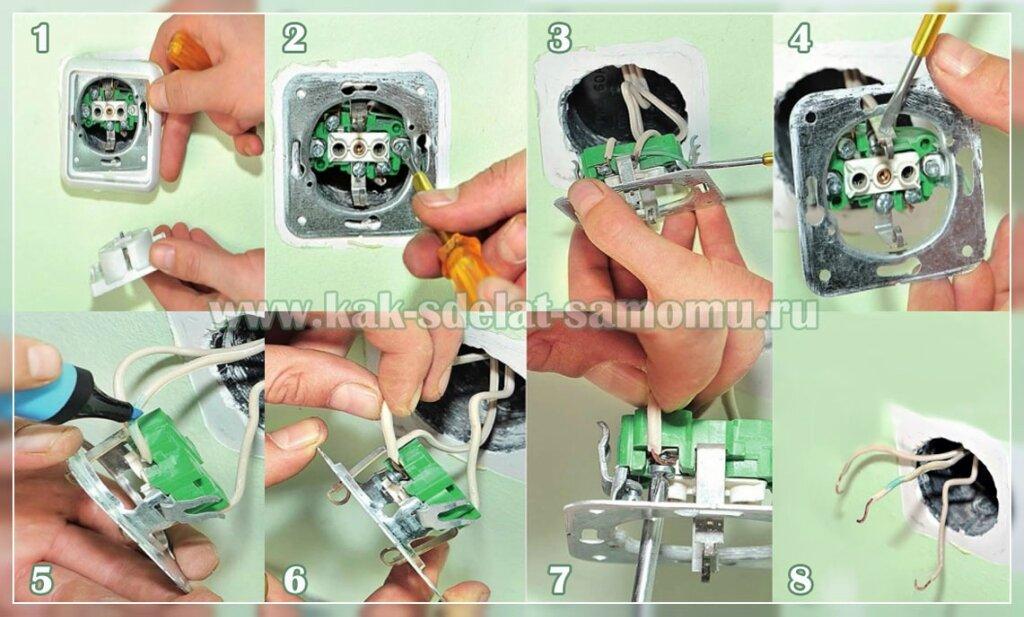 Как установить или заменить розетку и выключатель своими руками