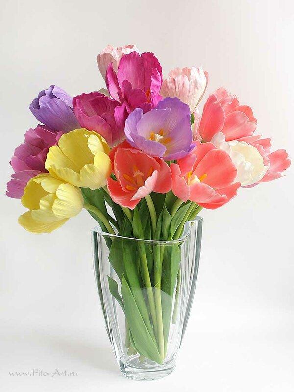 тюльпаны из полимерной глины