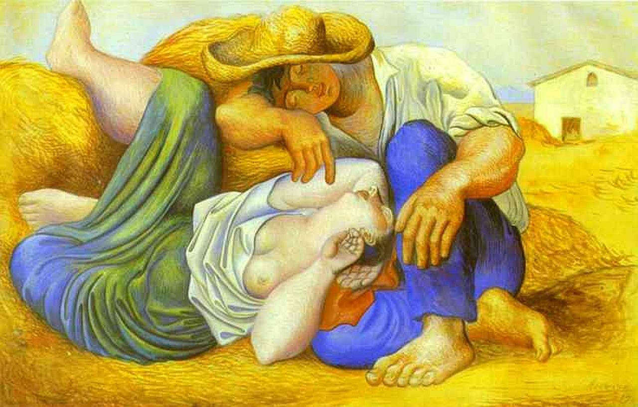 Sleeping Peasants. 1919 - by Pablo Picasso
