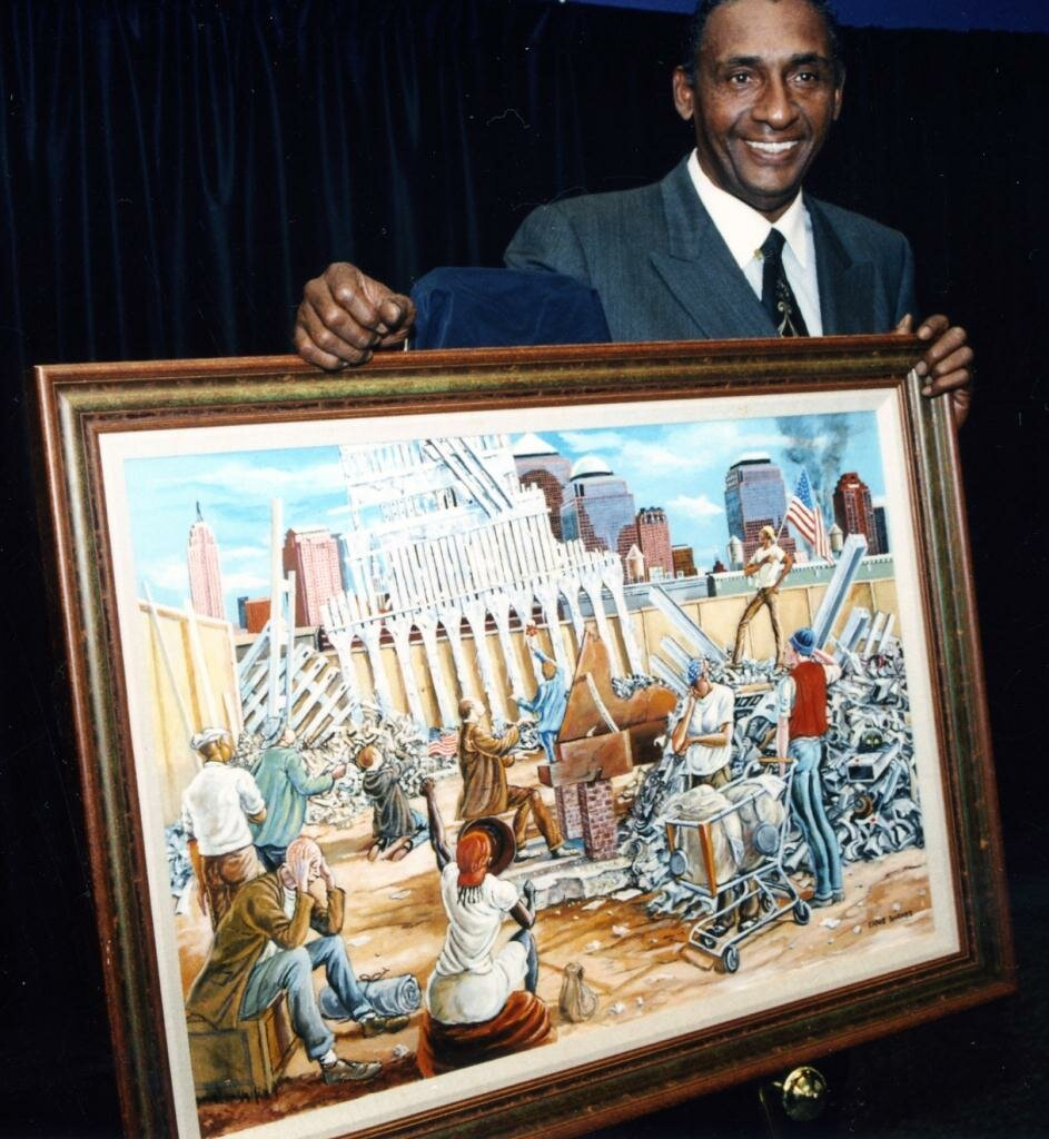 Ernie Barnes with In remembrance
