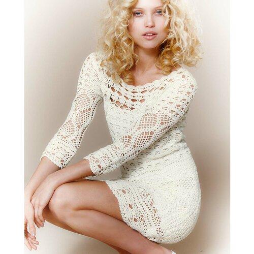 Белое платье на осинке