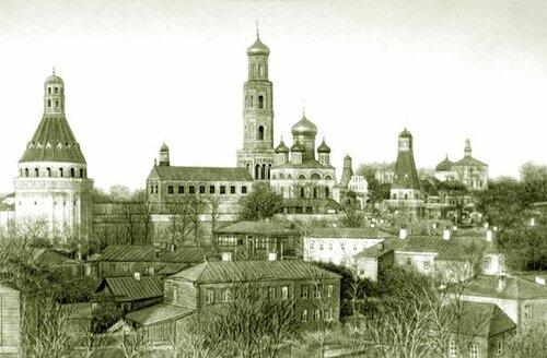 Симонов (Успенский) монастырь.Simonov_1882.