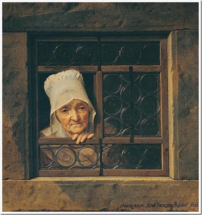 Старушка в окне Йозеф Гауцингер  автор  После 1769  холст, масло  81х76,5.jpg