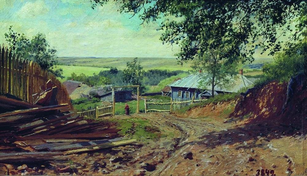 Деревня 1893 холст масло 27 х 44.5 см Вольский краеведческий музей.jpg