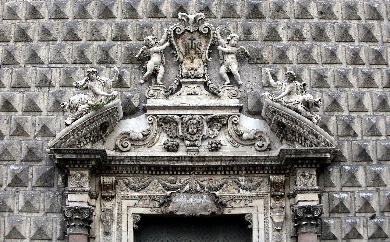 Naples. Church of Gesu Nuovo (Chiesa del Gesu Nuovo)