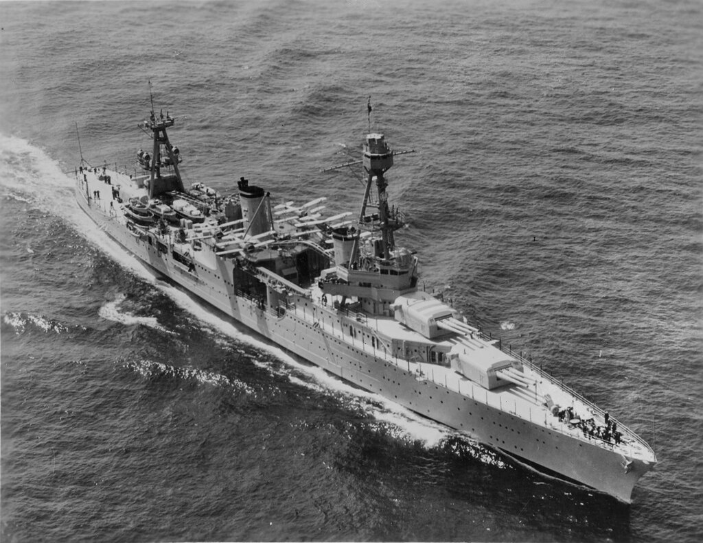USS Chicago (CA-29) Underway off New York City, during the 31 May 1934 fleet review