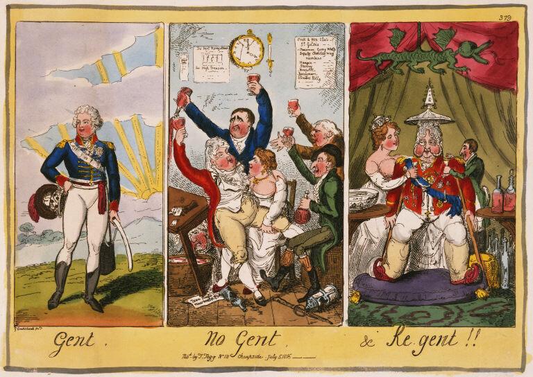 Карикатура на принца-регента