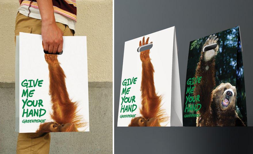 21. Greenpeace, как всегда, бесподобен в плане рекламы. Протяни руку помощи братьям нашим меньшим.
