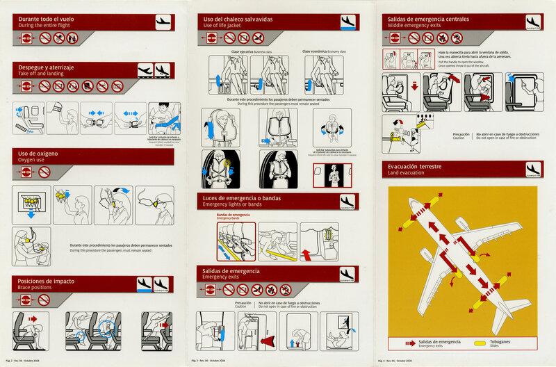 Инструкция по безопасности Taca Airbus A319