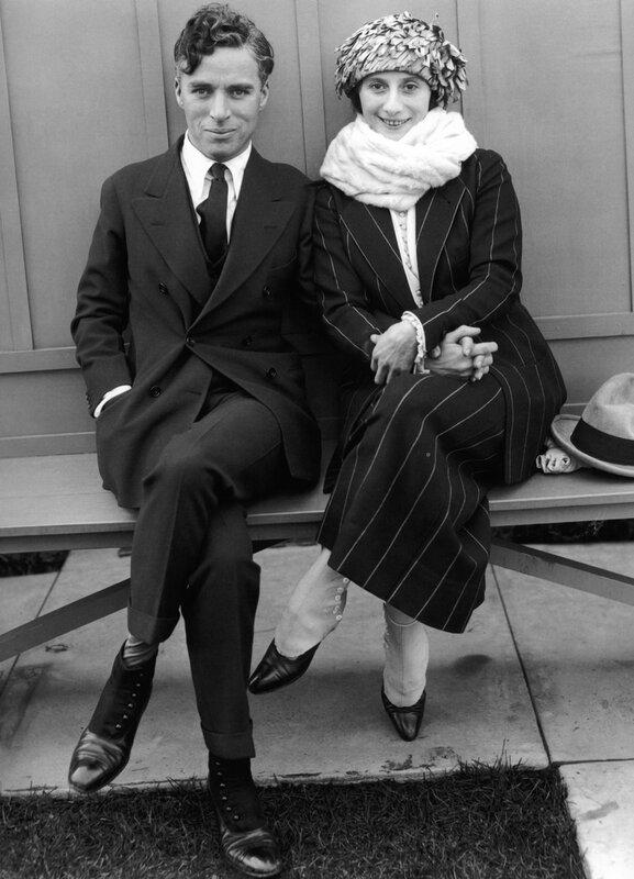 Charlie Chaplin with ballerina Anna Pavlova.