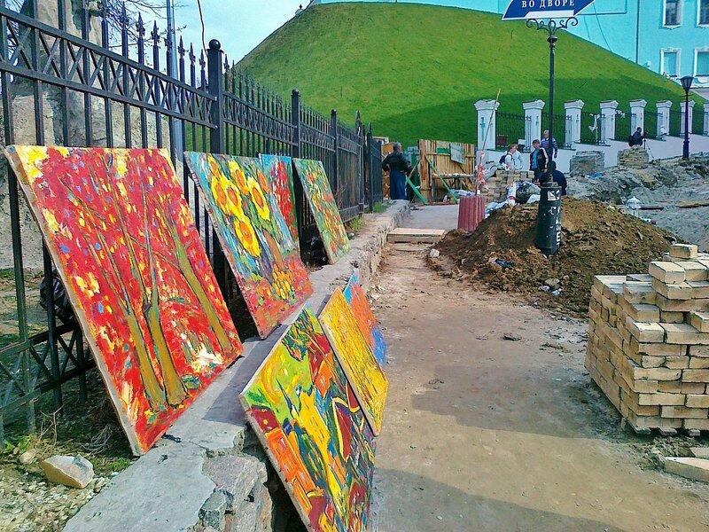 Торговля картинами на Андреевском спуске