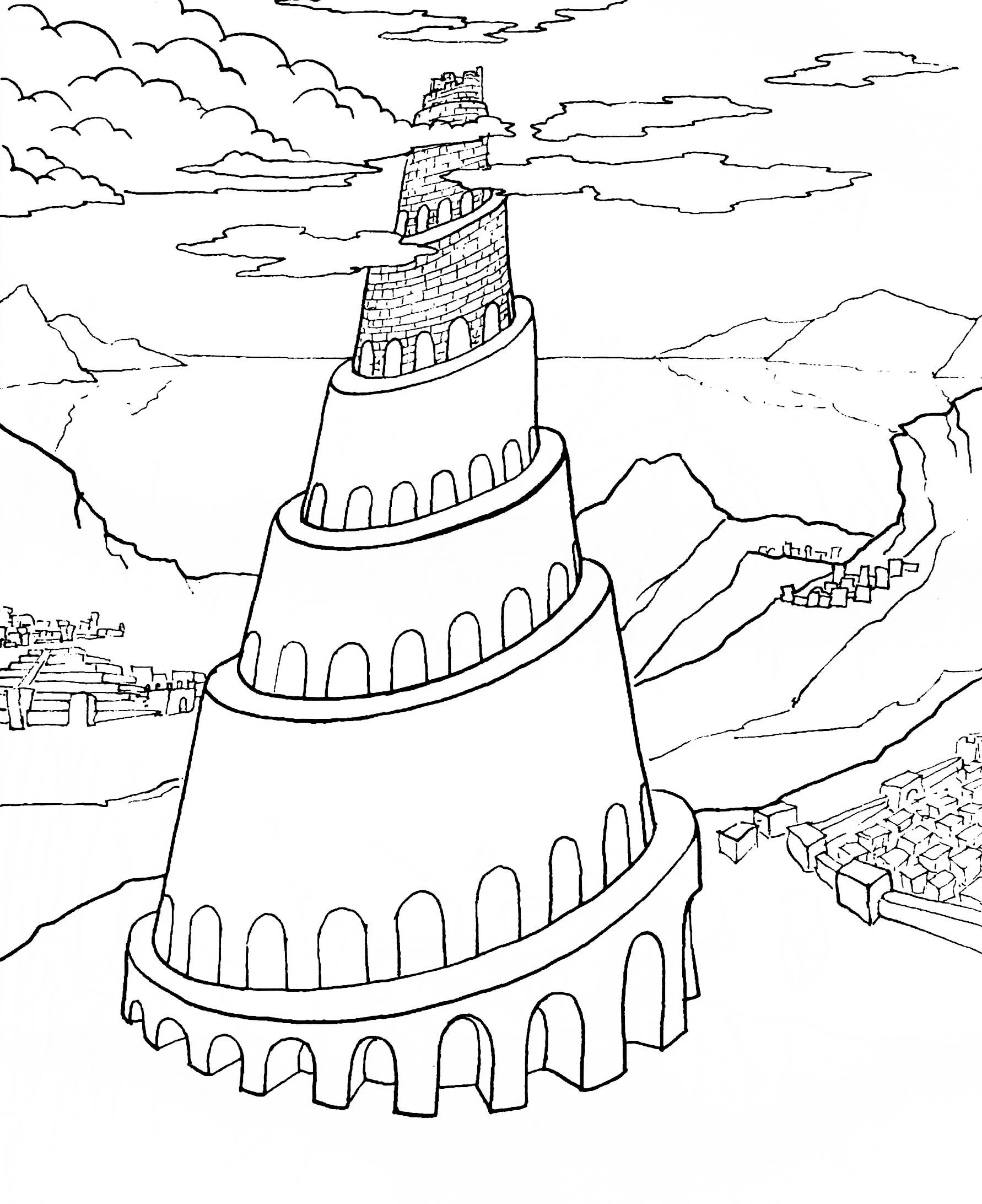 Рисунки вавилонской башни карандашом