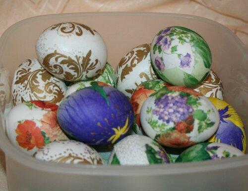Яйца к пасхальному столу 2012.