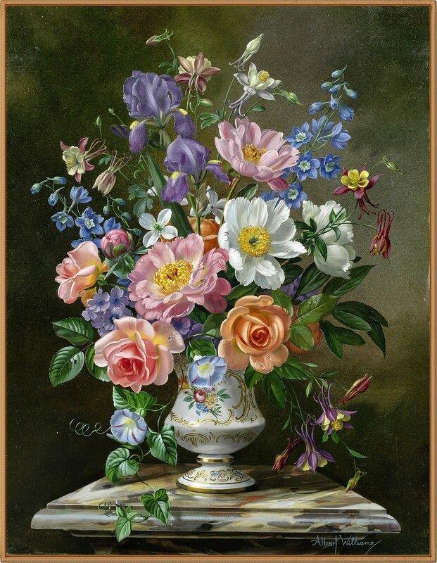 Волшебный аромат цветов. Натюрморты-Альберт Вильямс (Albert Williams)