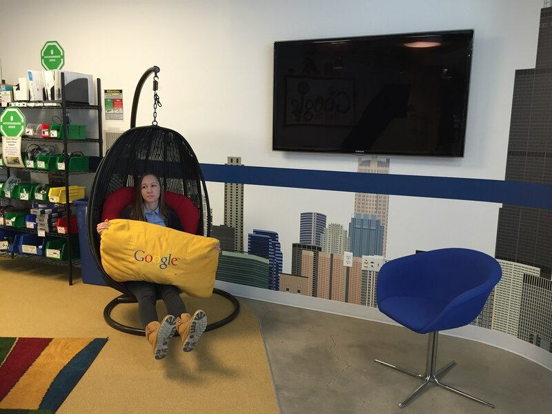 Nadezhda Mkhitaryan at the Google office in Chicago