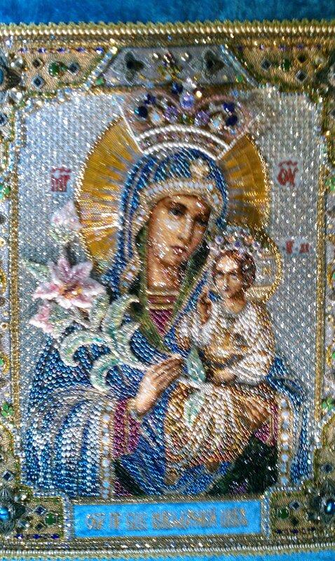 Выставка икон в храме Христа.  Из альбома.