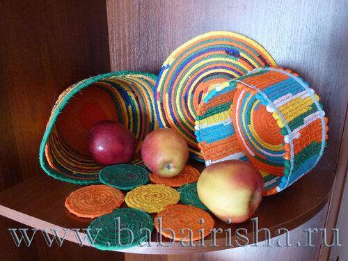 корзинки с яблоками