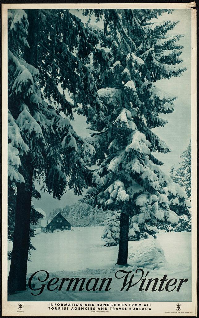 Travel posters Berlin 1910-1959.German Winter