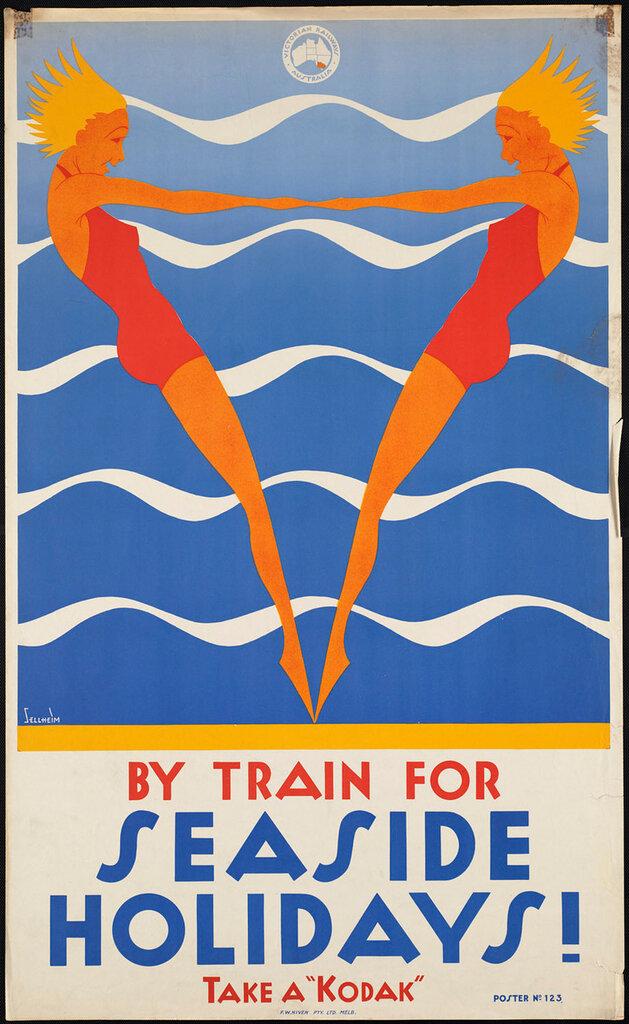 Travel posters Melbourne 1910-1959.Sellheim, Gert, 1901-1970