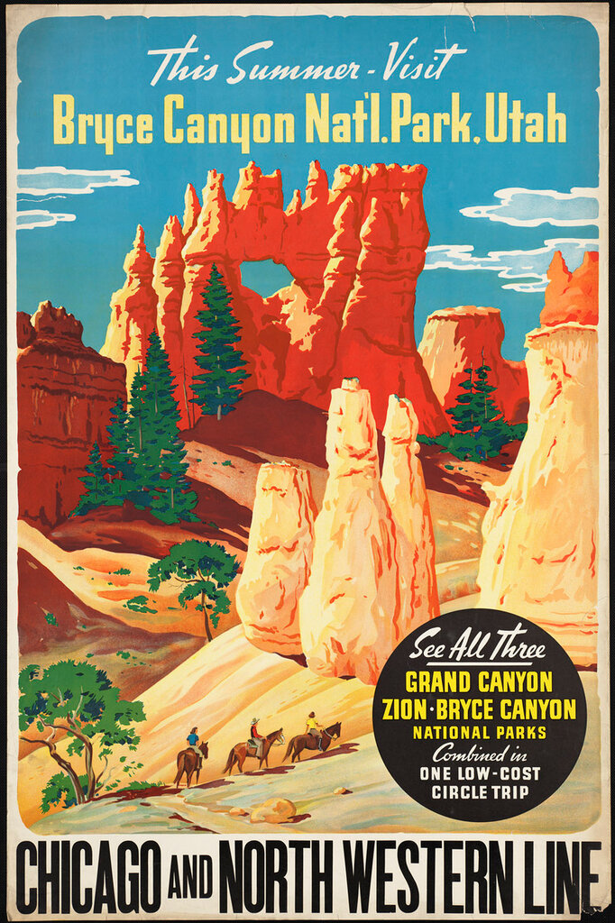 Travel posters.Chicago and North Western 1910-1959