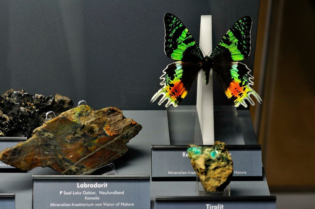 Labradorite, Tirolite and Butterfly