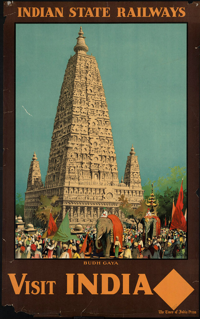 India. Budh Gaya 1910-1959