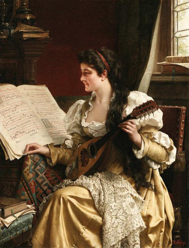 """Схемы вышивки  """"женщина.музыка.мандолина """" - Схемы вышивки по тегам - Портал  """"Вышивка крестом """" ."""