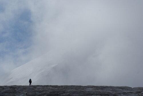 На леднике Гергети