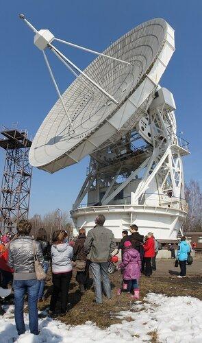 22-метровый радиотелескоп в Пущино