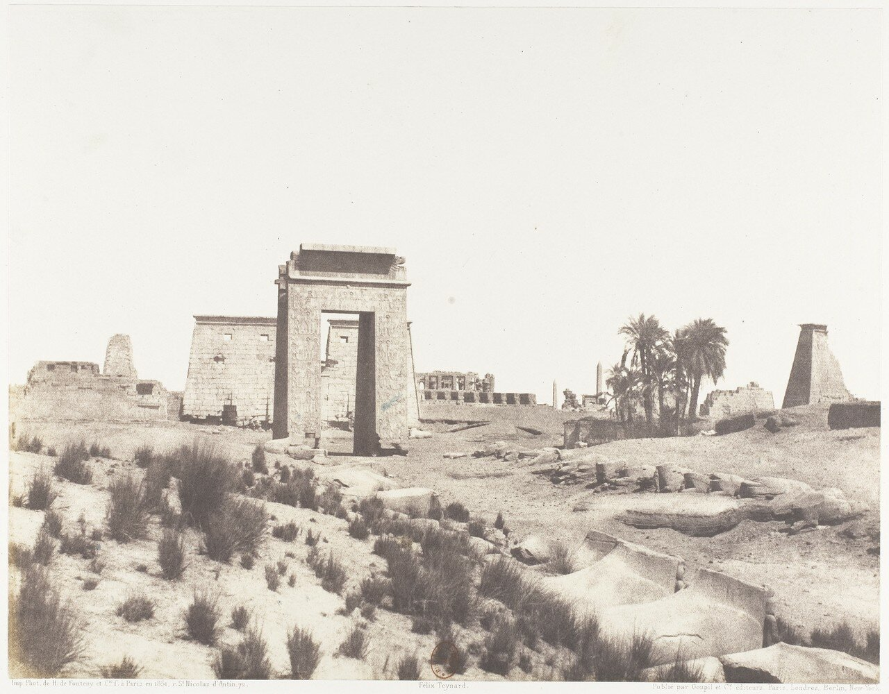 Карнак. Общий вид руин из точки «В»