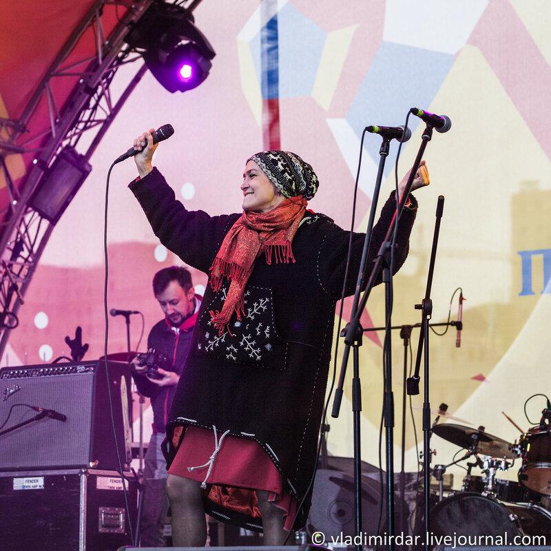 Инна Желанная. Концерт на масленницу 22 февраля 2015 года. Парк Горького.