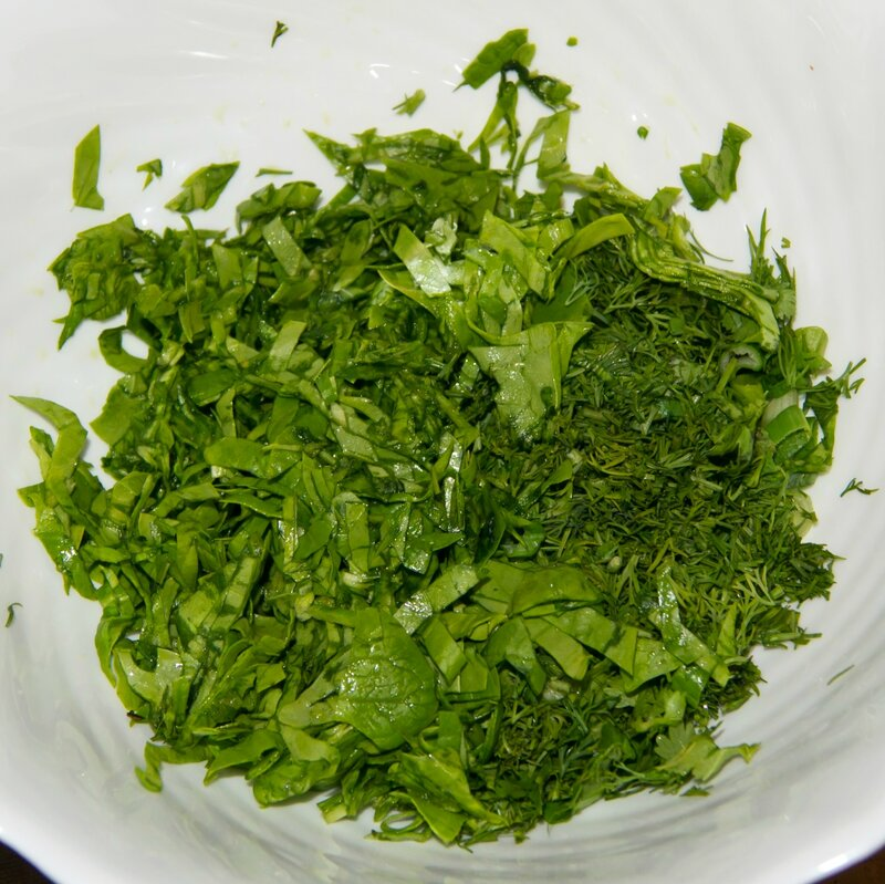 Кюкю из зелени