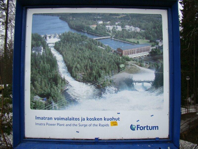 Самая большая ГЭС в Финляндии производит электроэнергию семью турбинами.