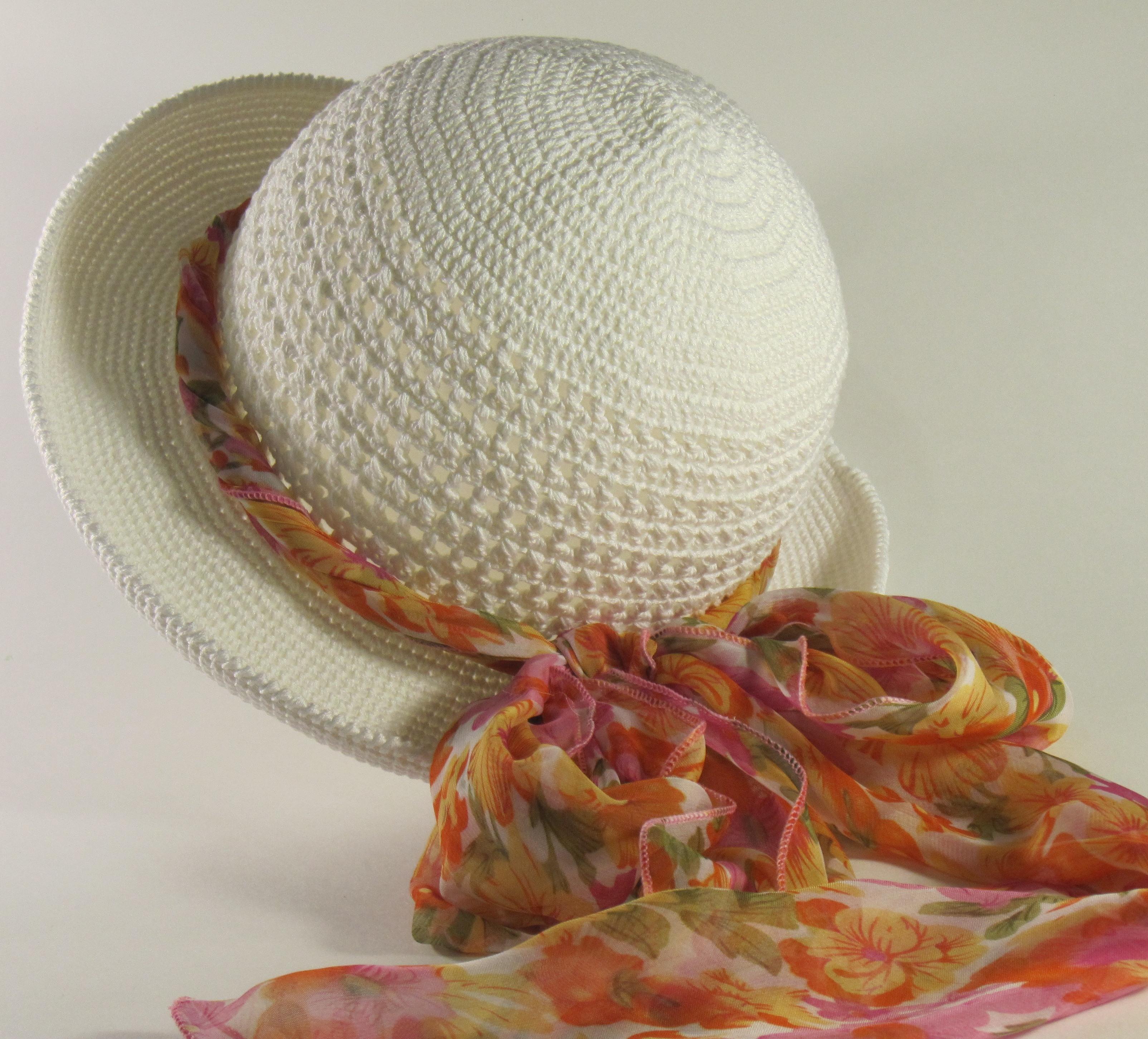 шляпка для девочки крючком пошаговая инструкция