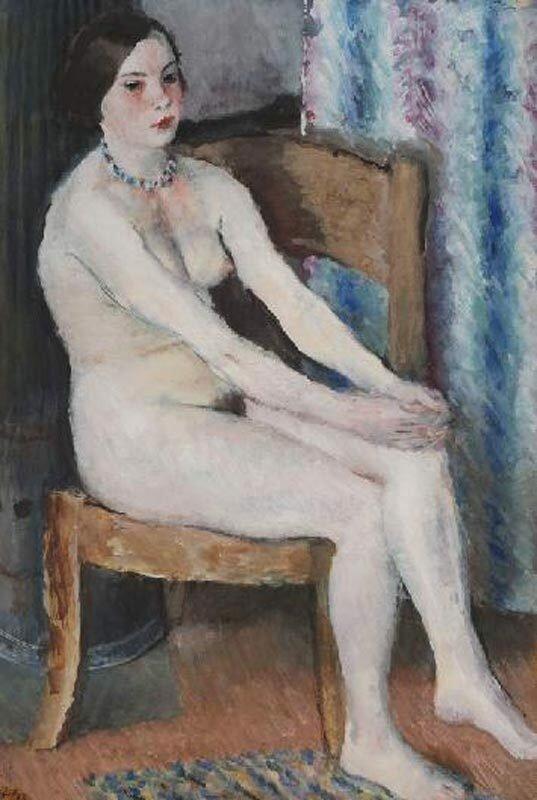Сидящая обнаженная, 1933 г