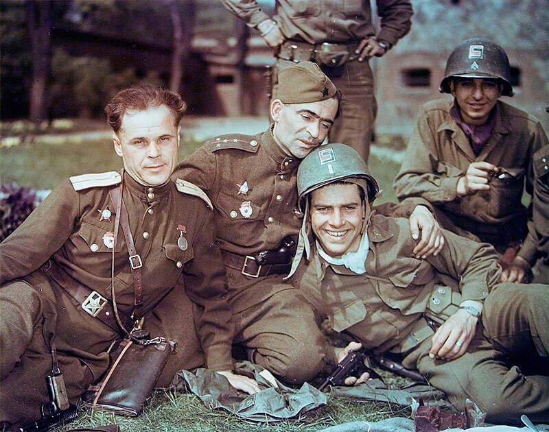 Цветные  второй мировой войны