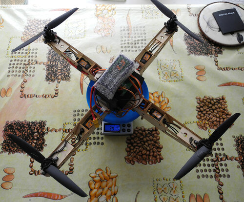 miniQuadrocopter Weight