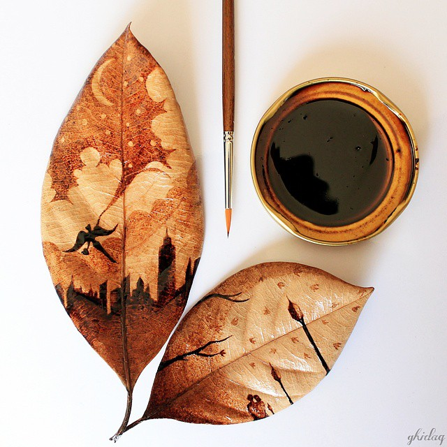 Coffeetopia Leaf Paintings