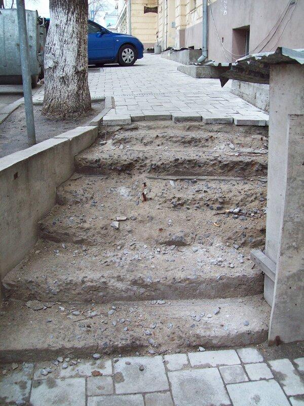 разрушенные ступени
