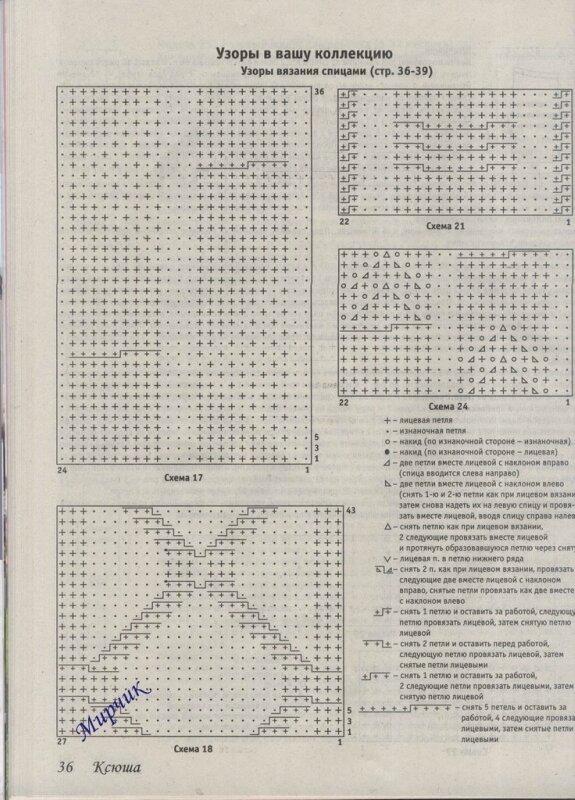 Журнал для вязания ксюша схемы