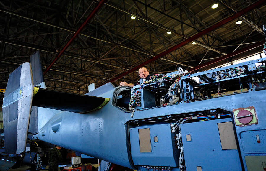 Вертолет Ка-52 соосной схемы