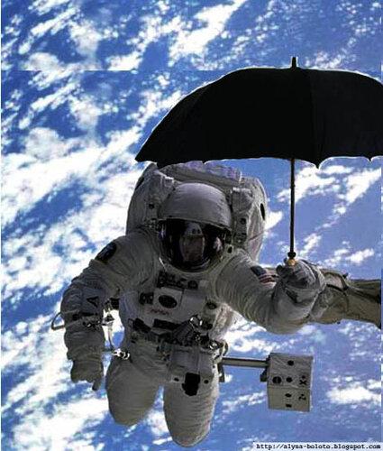 Противометеоритный зонтик в космосе